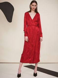 372d5996bc Odile Red Maxi Wrap Dress by KITRI Studio Red Wrap Dress