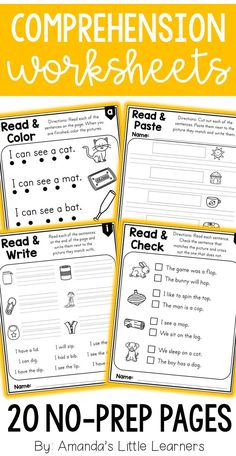 Reading, writing, fluency, comprehension, and coloring are all combined in this fun worksheet set! Students will love using these worksheets to practice reading sentences with CVC words! The 20 worksheets included in this product are broken down into four different formats with 5 worksheets each- one for each of the five medial vowels!Sight words from the Fry First 100 list are packed into each sentence to make them usable for emergent readers. Whether you use this at a guided literacy table…