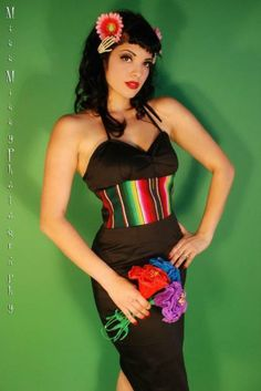 MissVhaven...My Mexican Blanket Dress... my design!! Selling soon! - PinupLifestyle ♥