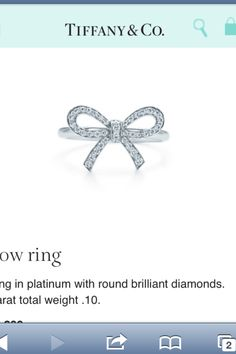 Tiffany bow ring. Diamonds & Platinum
