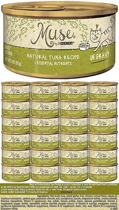 Cat Food 63073: Muse By Purina Natural In Gravy Wet Cat Food - 24 3 Oz. Cans , Tuna Recipe -> BUY IT NOW ONLY: $30.69 on eBay!