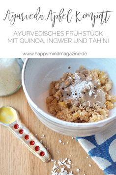 Ayurvedischer Apfelkompott mit Quinoa & Tahini - ein einfaches Rezept für ein ayurvedisches Frühstück.