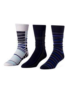 Multi-stripe bamboo sock 3-pack $10