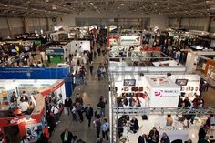 ROME, ITALY APRIL 1st: Video of people visiting stands at Photoshow, international photo and digital imaging exhibition on April 1st 2012 in Rome, Italy. Photoshow had this year an influx of 65,000 visitors in just four days. Stock Photo