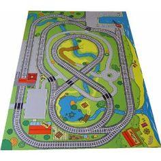 Road, Rail & River Playmat