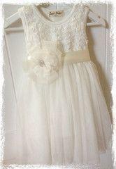 Baby & girl white or ivory flower girl dress Dress19