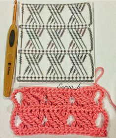 Picasa Web Albums. Crochet scarf stitch pattern diagram