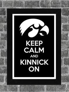 Keep Calm Iowa Hawkeyes Tide NCAA Print Art by PortlandInkery, $14.99