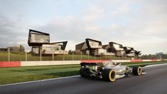 Twelve Architects has designed the 60-holiday-home Escapade Silverstone development that will directly overlook the race track at Silverstone – home of the British Grand Prix.