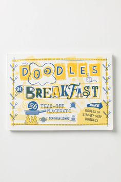 Doodles At Breakfast Placemats - Anthropologie.com