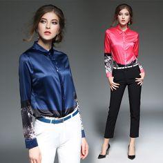 151bdf8e628b7 Aliexpress.com   Buy Hot Vintage Women s Blouses Loose Shirts New 2017 Turn  Down Collar Shirt Blusas Femininas Plus Size Long Sleeve Print Women Tops  from ...