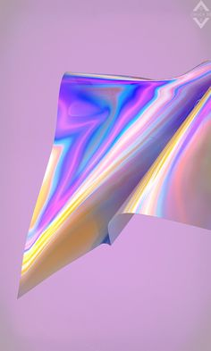 A project made with an iridescent/translucent material and cloth simulation Holo Wallpapers, Holographic Wallpapers, Cute Wallpapers, 3d Design, Graphic Design, Render Design, Arte Steampunk, Industrial Design Sketch, Retro Background