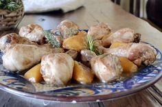 ChupChupChup: Pollo con melocotones y miel