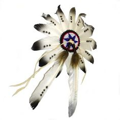 Native American Head Dress Hand Made - Glass Beads Native American Headdress, Native American Art, Harry Potter Wand, Native Indian, Nativity, Glass Beads, Brooch, Feathers, Bradford Exchange