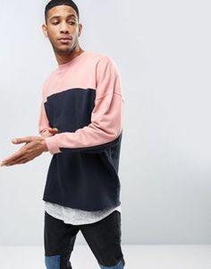ASOS Oversized Longline Sweatshirt With Cut & Sew