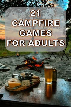 21 Campfire Games for Adults That are a Total Blast - OutMore Camping Drinking Games, Outdoor Drinking Games, Adult Drinking Games, Camping Drinks, Outdoor Party Games, Drinking Games For Parties, Camping Outdoors, Group Activities For Adults, Cabin Activities