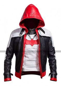 ba67188d4d63ba Bat Logo Knight Red Hood Jacket with Vest at Prime Jackets Шкіряні Куртки,  Светри,