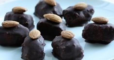 Healthy Almond joys. Coconut chocolate and almonds all super yummy when combined!