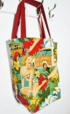 Hey, I found this really awesome Etsy listing at https://www.etsy.com/listing/235543742/tote-bag-pin-up-aloha-from-alexander