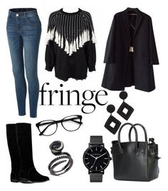 """."" by ymethe on Polyvore featuring LE3NO, UGG, Off-White, Kenneth Jay Lane, Rochas, EyeBuyDirect.com and fringe"