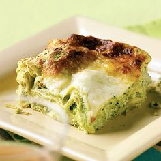 Sweet Pea and Artichoke Lasagna Recipe  | Epicurious.com