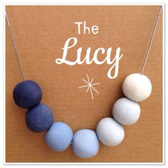 The Lucy is navy through to pale / duck egg blue.