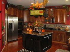 ideas for decorating top of cabinets - Google Search