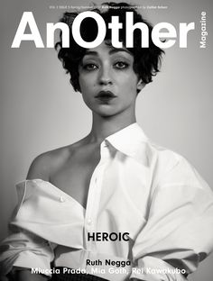 Ruth Negga on the cover of AnOther Magazine S/S17. Photography by Collier Schorr Styling by Katie Shillingford Interview by Ben Cobb Creative direction by Laura Genninger at Studio 191