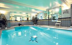 """Located in the basement is the swimming pool complex. """"I thought it would be nice to have a swim occasionally, I had the space and, thank God, I had the money to do it,"""" Winner once said of it."""