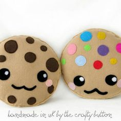 Kawaii  cookie plush toy cushion cute chocolate chip cookie m&m cookie cartoon face cute pillow felt