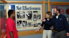 """These museum-quality panels were designed by Grieb and funded by a Student Senate grant. The project includes a Web site called """"This Week in KU History"""" that will conduct a test launch from April 28 to May 4, 2002 @ http://www.kuhistory.com."""