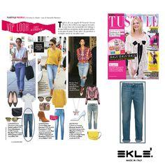 Jeans jeans jeans! Per la primavera estate 2016 è la parola che viene inneggiata dalle fashion trendsetter di tutto il mondo! Dalla ragazze della porta accanto alle super top model, tutte hanno riscoperto questo capo...ma deve essere abbinato al meglio! Lo stile dell'angelo di Victoria's Secret Lily Aldrige è da prendere ad esempio: street sì, ma ultra cool! La redazione di TU STYLE sceglie idealmente per lei i nostri jeans CAROL/C