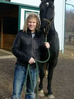 David with one of his horses