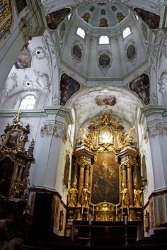 Cathedral in Salzburg, Austria. Had the honor of singing here with my choir at 16. The sound in the old cathedrals is indescribable!