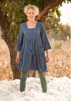Jacquardkleid aus Baumwolle