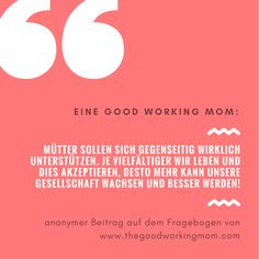 Zitat Aus Dem Fragebogen Für #berufstätige #Mütter #workingmom