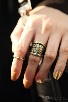 gold rings and nails