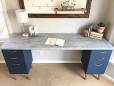 Beautiful Make A Desk with Filing Cabinets