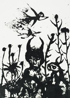 """Gérard Sendrey: """" The Non-formation of the World"""", 2002, Indian ink, 16.5 x 11.7 ins., 42 x 29.6 cm"""