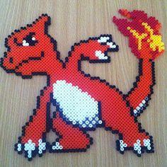 Charmeleon Pokemon hama beads by hamabeadmania