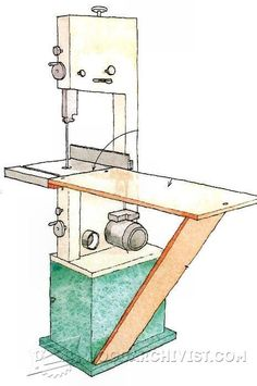 #457 Band Saw Outfeed Table - Band Saw Tips, Jigs and Fixtures http://woodarchivist.com/457-band-saw-outfeed-table/ Tags: #OutfeedTable, #Woodworking, #Woodwork, #WoodworkingPlans