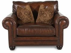 BHT-7313LXO - Bernhardt Harrington Leather Chair and a Half | Mathis Brothers Furniture