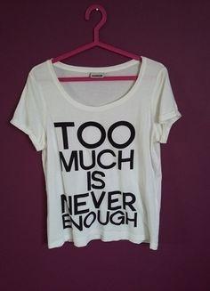 Kup mój przedmiot na #vintedpl http://www.vinted.pl/damska-odziez/koszulki-z-krotkim-rekawem-t-shirty/14280469-modny-wygodny-t-shirt-z-napisami
