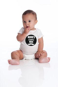 Baby onesie mom's little man