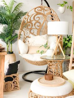 Our Egg Swing by Jo-Liza International makes a stunning addition to your home interior MLx Schönheitssalon Design, Deco Design, Interior Design, Interior Decorating Styles, Egg Swing Chair, Swinging Chair, Hanging Egg Chair, Indoor Swing, Rattan Furniture