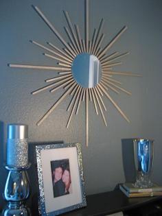 DIY Tutorial DIY Mirror / DIY Sunburst Mirror - Bead&Cord