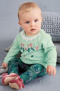 Kaufen Sie Mint Floral Tunic And Leggings Set (0 Monate bis 2 Jahre) heute online bei Next: Deutschland