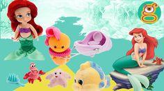 Ariel la Sirenita juguetes Ariel little mermaid toys Disney Animators collection