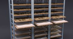 Стеллаж для сушки и хранения изделий, 3 секции