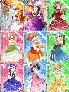 Idolised Dancing Ball Gown Card Set